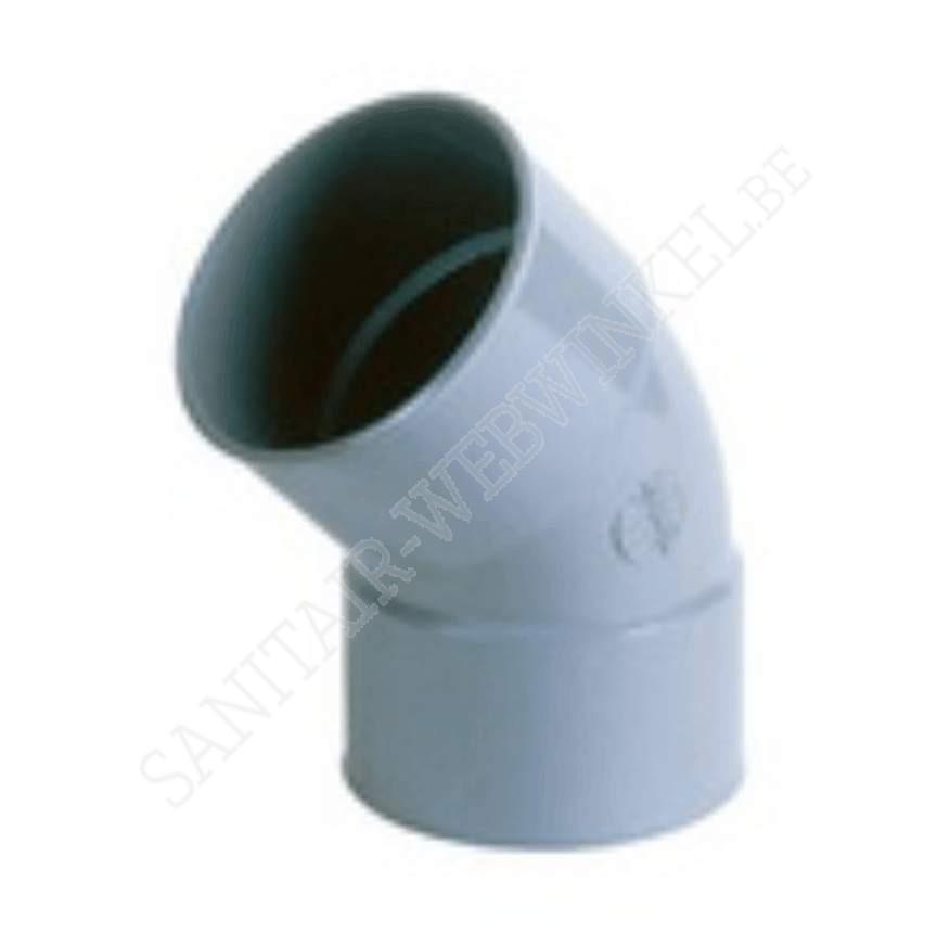 PVC bocht 45° mof - mof Ø110