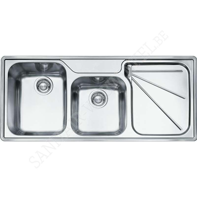 franke ariane arx624r1 inbouw met 2 spoelbakken sanitair webwinkel. Black Bedroom Furniture Sets. Home Design Ideas
