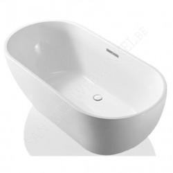 Flow duo vrijstaand bad met sifon